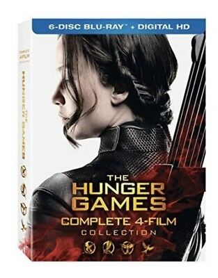 The Hunger Games Complete 4 Film Collection [Region A Blu-ray + Digital DL] NEW