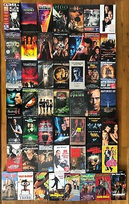 LOT of 50 Classic 80s & 90s Action Sci-fi Comedy Horror Movie on VHS 1980s 1990s