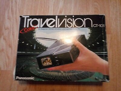 Org 1984 Japan made Panasonic Travelvision CT-101 Small Portable COLOR TV In Box
