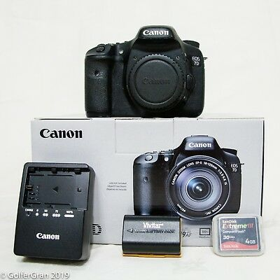 Canon EOS 7D 18.0MP Digital SLR Camera - Black (Body Only) Low Shutter Count