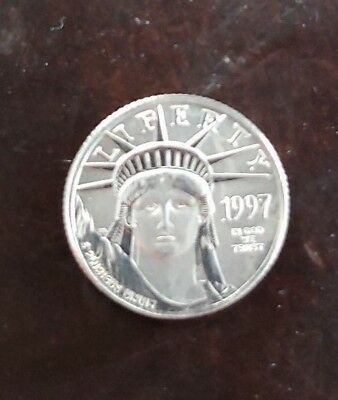 1997 1/10 oz Platinum United States Mint American Eagle Coin BU