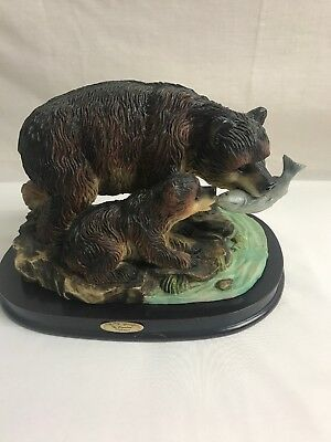 "7"" Resin Bears Figurine ""the Canadian Wilderness"""