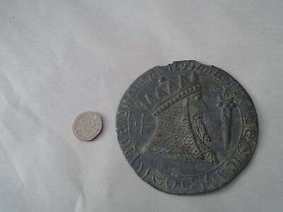 interesting large ancient looking metal seal?   ODD MYSTERY ESTATE FIND CURIO