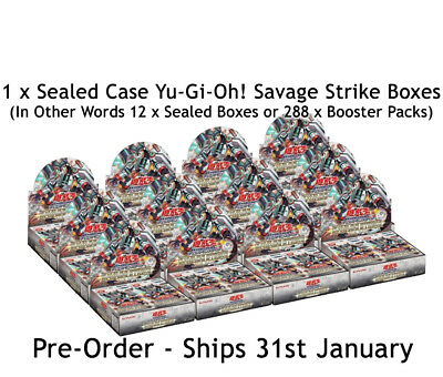 1 x Sealed Yu-Gi-Oh! Savage Strike 1st Edition Booster Case (12x Boxes) Preorder