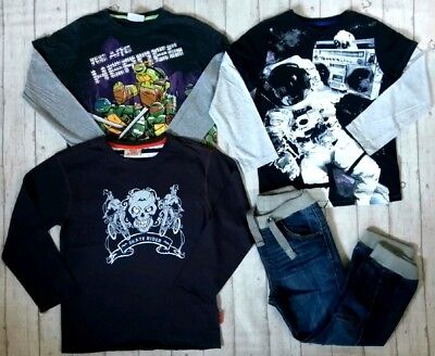 8 9 Years Duck And Dodge Cuff Jeans Long Sleeve Tops Boys Trendy Clothes Bundle