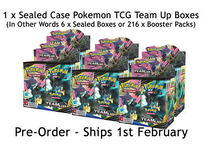 1 x Sealed Pokemon TCG: Sun & Moon 9 Team Up Booster Case (6x Boxes) - Preorder
