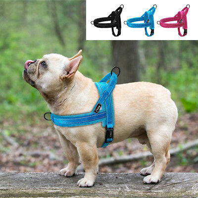 No Pull Front Leading Dog Harness Reflective Plush Padded Pet Vest Quick Fit S-L