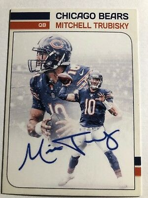 Mitchell Trubisky Chicago Bears Custom Trading Card NFL Autograph Signed RP