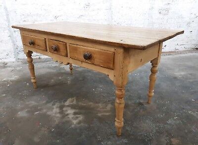 antique pine country house kitchen prep table