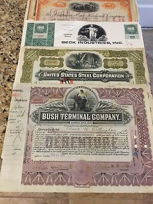 Lot of 50+ Stock certificates Photos Of All Wall Art Decoration
