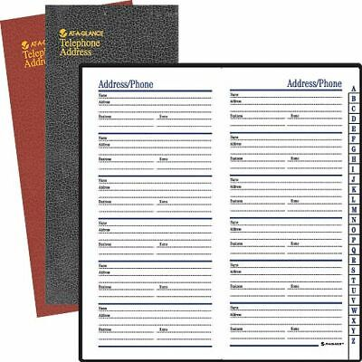 "AT-A-GLANCE® Telephone/Address Book, 3 1/8"" x 6"", Assorted Colors (No Color Choi"