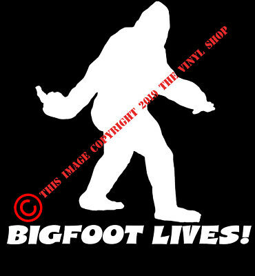 2f4c63a4 Bigfoot Lives! Middle Finger Sasquatch Yeti Sticker Decal NW WA Conspiracy