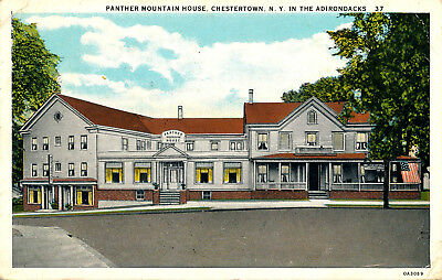 Panther Mountain House, Chestertown, N.y. In The Adirondacks. New York. Hotel.