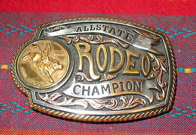 2012 Allstate Rodeo Champion Belt Buckle Bull Riding