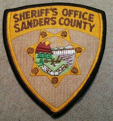 MT Sanders County Montana Sheriff Patch