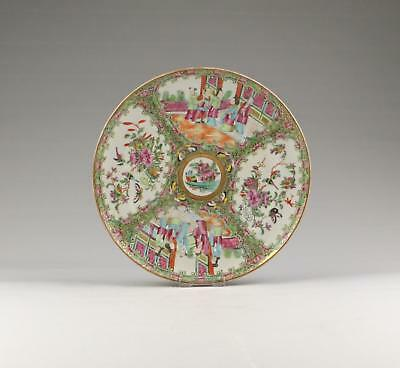 Very Fine Large Antique 19thC Chinese Qing Famille Rose Medallion Porcelain Dish