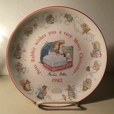 Wedgewood 1982 Peter Rabbit Plate W/box