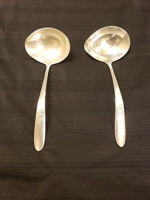 PAIR Of Reed And Barton Autumn Leaves Gravy Ladles