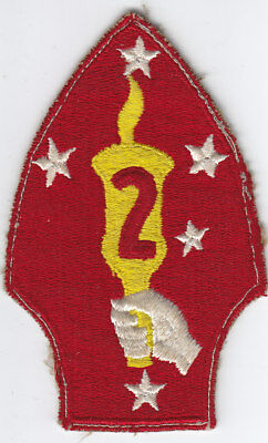 Original WWII US Marine Corps Patch - 2nd Division - FE - No Glow