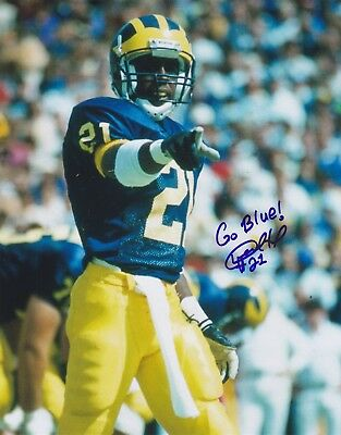 Desmond Howard signed 8x10 Michigan Wolverines color photo  1 Heisman Trophy e5014ad86