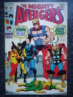 AVENGERS# 68 :Marvel Silver Age :1969: ULTRON Appearance!