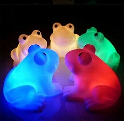 New Multi Colour Changing Night Light Cute Frog Children's Bedroom Small Light Lighting Home, Furniture & Diy