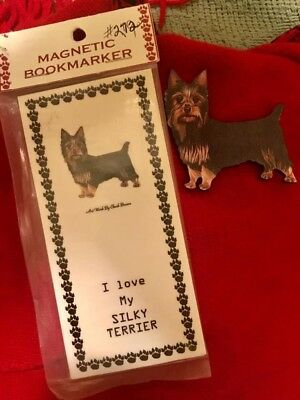 Silky Terrier dog puppy wooden magnet New w/o Tags matching book mark