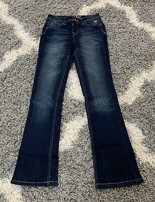 Justice Girls Jeans Size 14 S Slim Boot Cut Simply Low