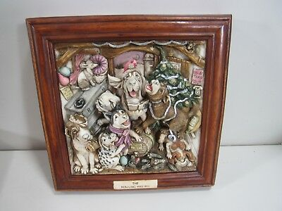 """2000 Harmony Kingdom Picturesque """"The Howling Tree Inn"""" Dog Plaque Picture"""