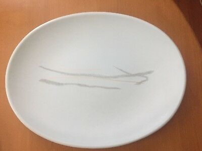 """Mid Century Modern Russel Wright Knowles Esquire GRASS 13"""" Oval Platter"""