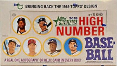 2018 Topps Heritage High Number Baseball Factory Sealed Hobby Box Holiday Pack