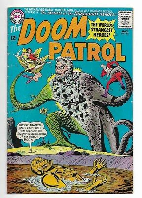 """Dc Comics -Doom Patrol #95 May 1965 """"menance Of The Turn-About Heros!"""""""