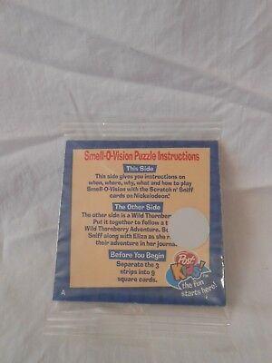 Smell-O-Vision Puzzle premium from Post Marshmallo Alpha Bits 1999