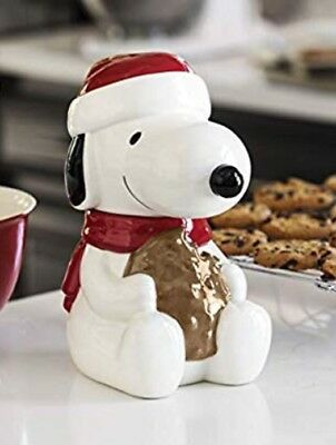 Hallmark 6MJC3003 Snoopy Cookie Jar with Sound, one Size, White Christmas