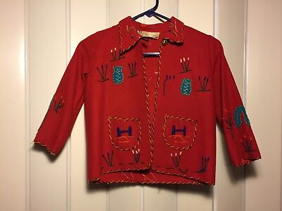 Vintage Presidente Wool Child's Panama Jacket- Made in Mexico