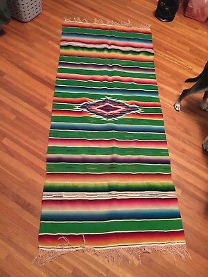 1930s Or 1940s Chimayo Blanket Colorful Beautiful Wow Must See 68 By 31.5