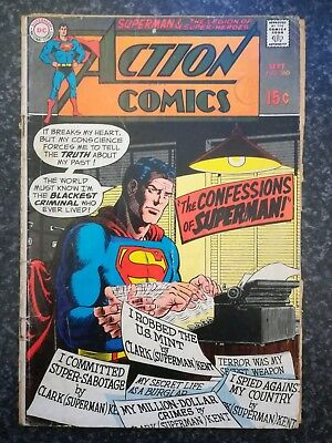 Action comics #380 (1st series ) 1969  condition. 50 year old classic. DC