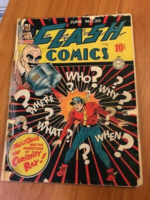 Flash Comics No. 30 June 1942-Dc Golden Age 10 Cent Comic