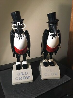 "Vintage ""OLD CROW"" Kentucky Bourbon Whiskey advertising statues"