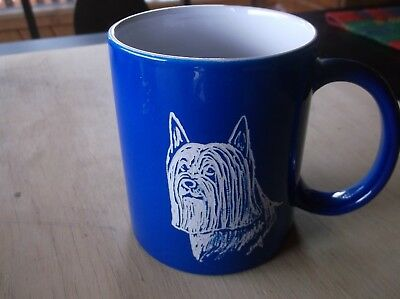 Silky Terrier -  Beautifully Hand Engraved Ceramic Mug by Ingrid Jonsson.