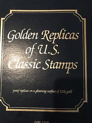Postal Commemorative Society Collection of 101 22kt Gold Replicas of U.S. Stamps