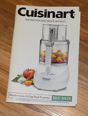 CUISINART DLC-2011N INSTRUCTION AND RECIPE BOOKLET cookbook and manual all in 1
