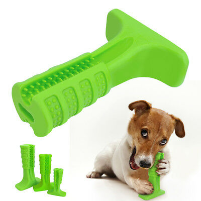 Rubber Dog Tooth Cleaning Toy Toothbrush Brushing Stick Chew Toys for Dogs S M L