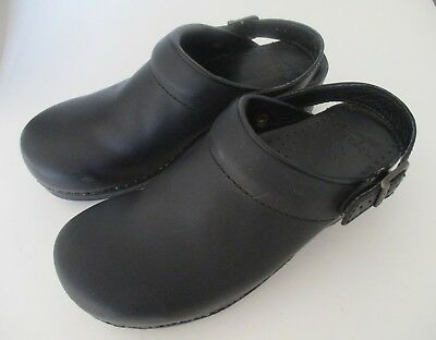 Dansko Clog Professional Oiled Black Leather Pre Owned Size 9 EUR 40