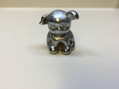 Vintage Hubley Cast Iron Bucki Carbons Ribbons Advertising Pup/dog Paperweight