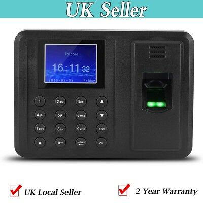 Clocking In Attendance Check Time Recorder Clock Machine Fingerprint+ Password
