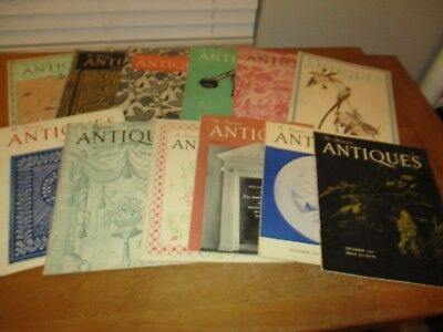 Vintage Lot of 12 - 1946  - COMPLETE YEAR -  The Magazine ANTIQUES   Great Ads