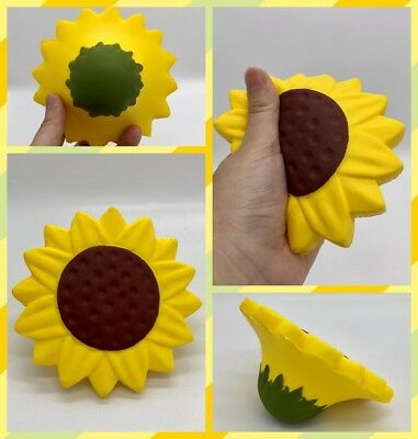 NEW Cute Jumpo Squishy Sunflower Slow Rising Cream Scented Squeeze Gift Toy