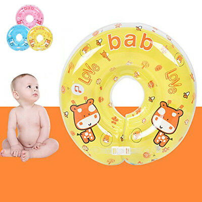 Safety Aids Newborn Infant Baby Swimming Neck Float Ring Bath Inflatable Circle