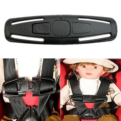 Black Baby Safety Car Seat Strap Child Toddler Chest Harness Clip Safe Buckle